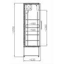 SCH 401 INOX - Üvegajtós, rozsdamentes hűtővitrin