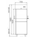 COMBI CF700 - Kétlégterű teleajtós hűtő/fagyasztószekrény