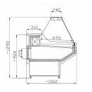 WCH 1,3/1,1 - Egyenes üvegű csemegepult