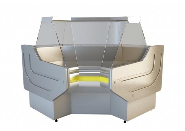 NCHW 1,3/1,1 - Egyenes üvegű belső sarokpult (90°)