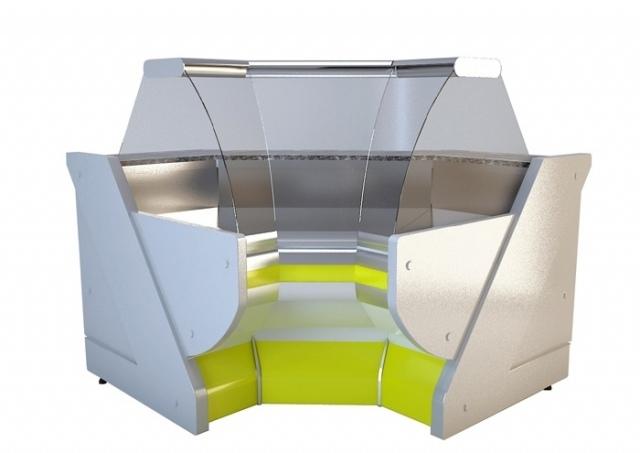NCH SN W | Hajlított üvegű belső sarokpult
