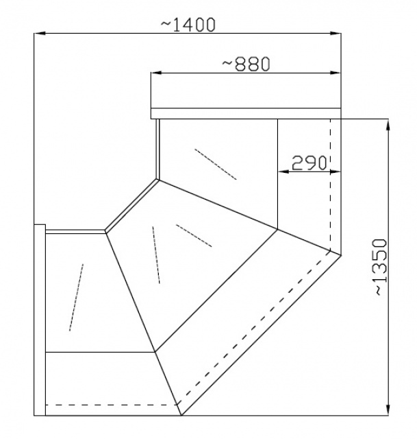 NCHCGW 1,3/0,9 - Belső sarokpult