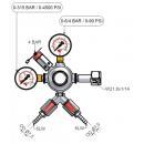 Micro Matic | 4 bar 1 tagos 2 kivezetéses CO2 reduktor