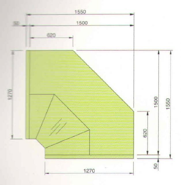 LCP Pegas SELF INT90 - Önkiszolgáló belső sarokpult 90°