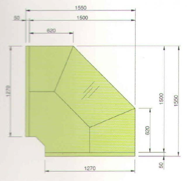 LCP Pegas SELF EXT90 - Önkiszolgáló külső sarokpult 90°