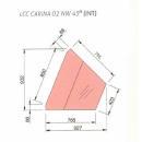 LCC Carina 02 INT45 - Hűtött belső sarokpult (45°)