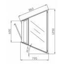 W-1/CNz-45° AMATEA - Semleges belső sarokpult
