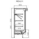 RCh-2-1 1,57 DAVOS - Hűtött faliregál csúszó üvegajtókkal