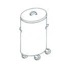 EMAX-6040 KR - Gördíthető hulladéktároló (króm)