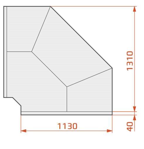 LCD Dorado REM EXT90 | Külső sarokpult 90°